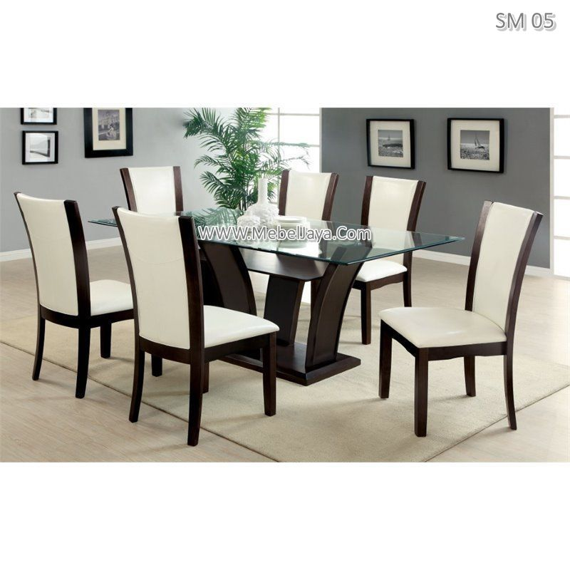 This dining room furniture includes dining table