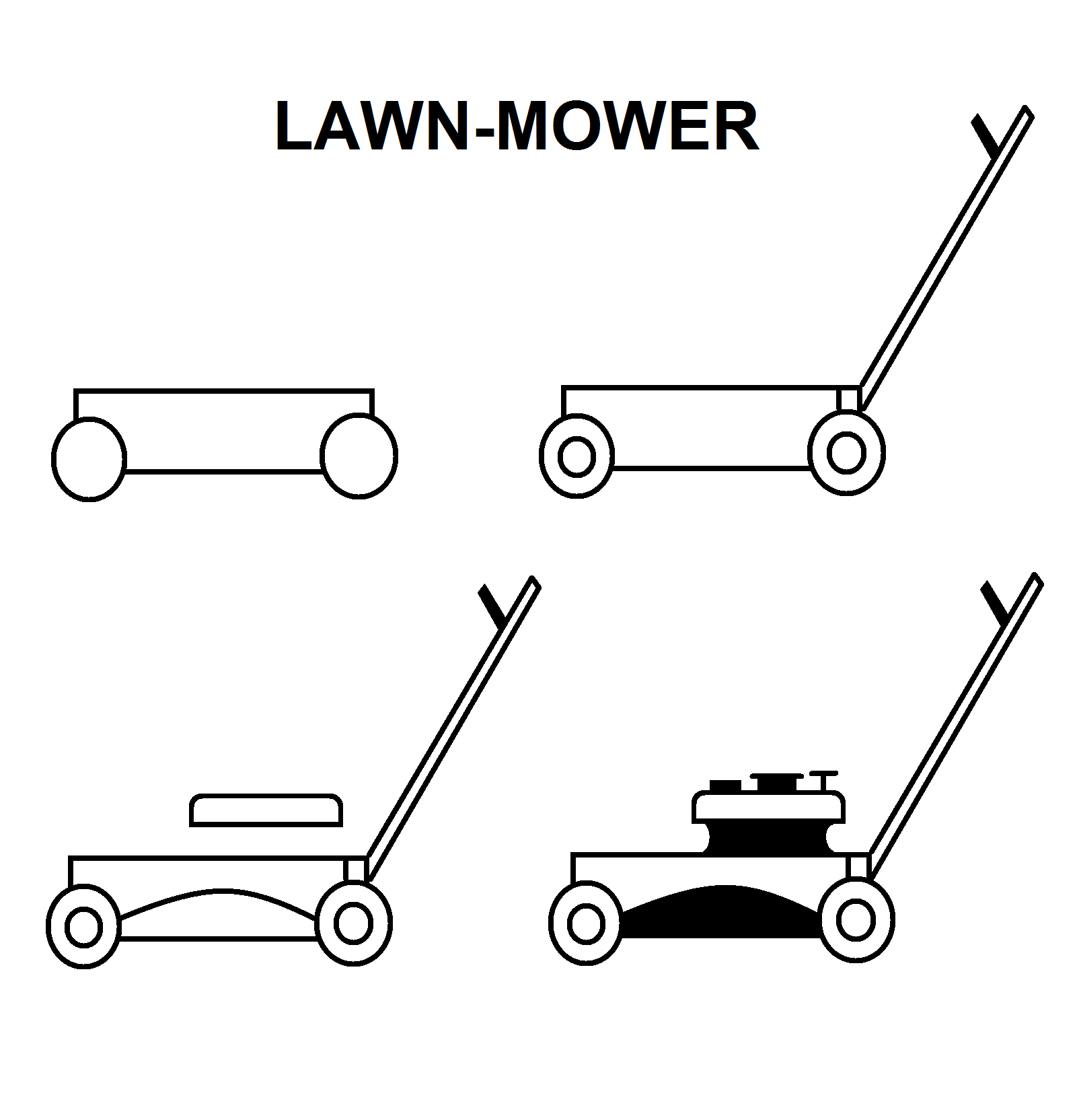 Step By Step To Draw A Lawn Mower