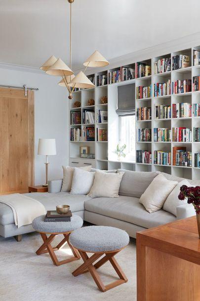 scandinavian home decor sectional sofa with soft foot rest and book rh pinterest com