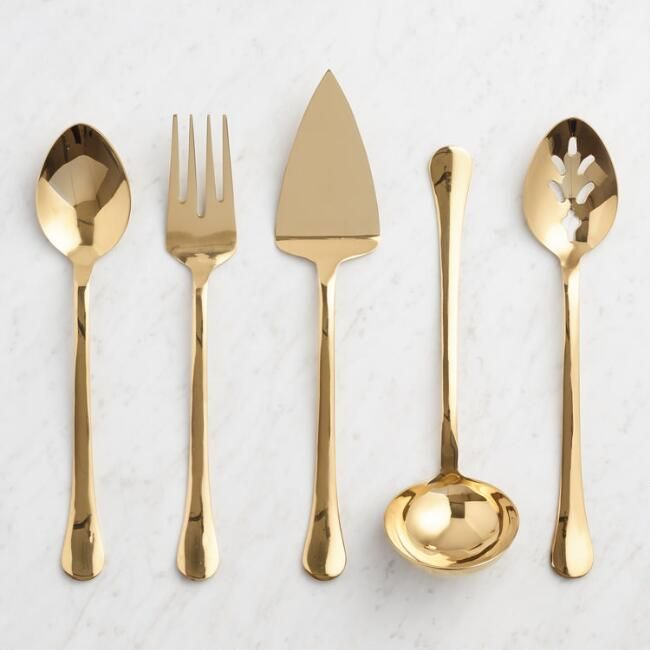gold buffet serving utensil collection v1 drinking dining in rh in pinterest com