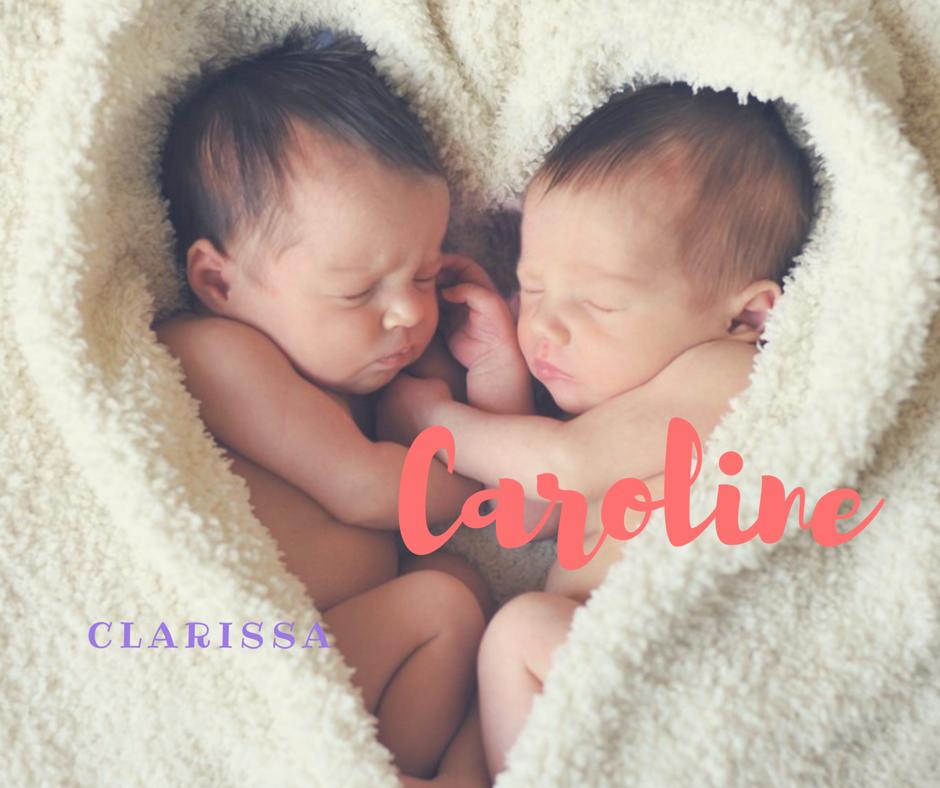 Twins names CLARISSA & CAROLINE #babygirl #twins #names #baby