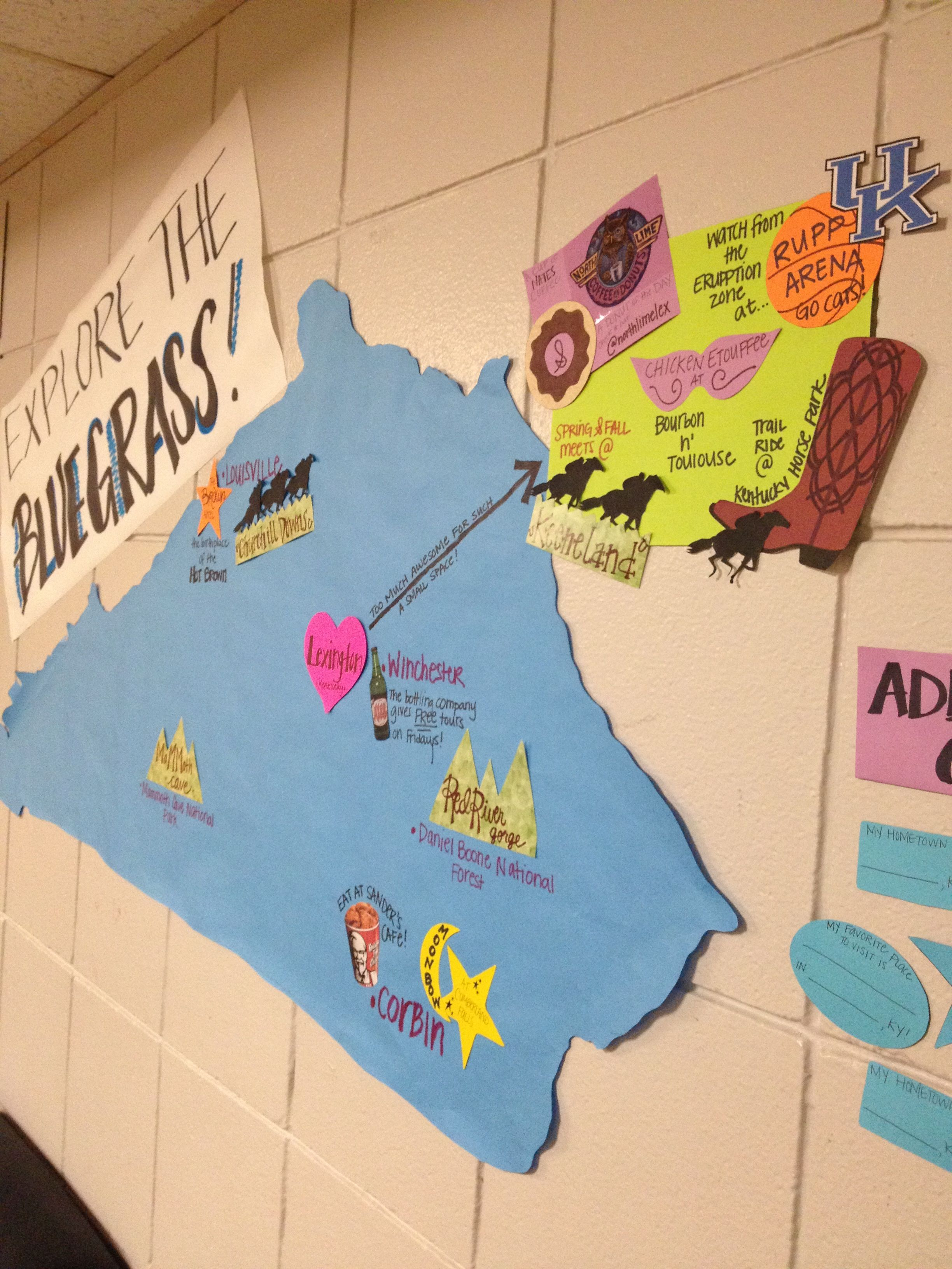 Bulletin board for state pride Cool things