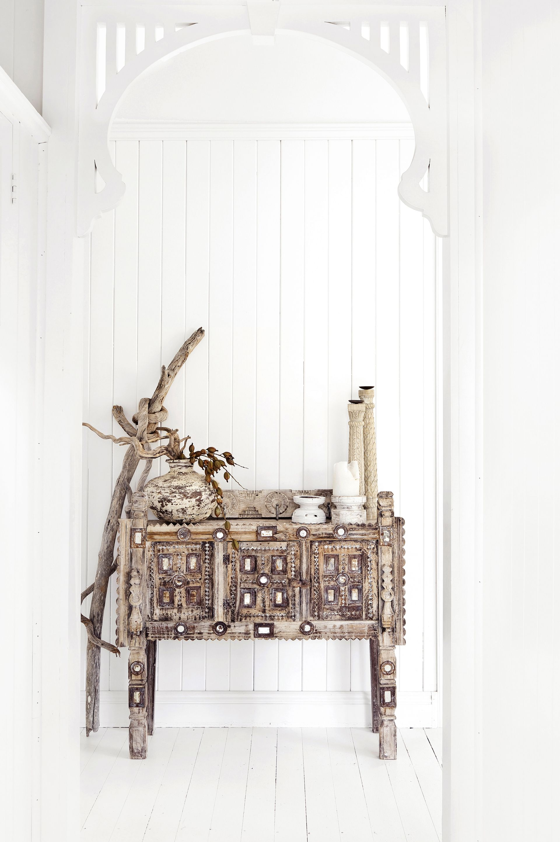 Rustic interior - Indian damchiya cabinet from Alabaster Trader ...