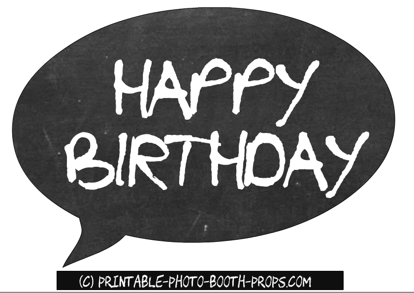 photo relating to Free Printable Photo Booth Props Birthday named Absolutely free Printable Satisfied Birthday Speech Bubble Prop Photograph