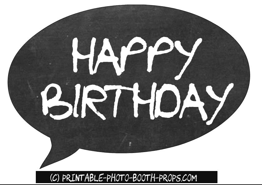 Free Printable Happy Birthday Speech Bubble Prop