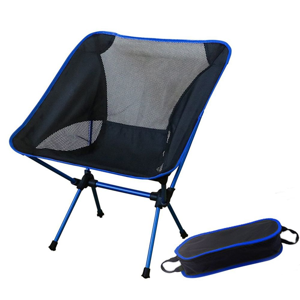 Outdoor Fishing Folding Chair With 600d Oxford Fabric And 7075 Aluminum Alloy For Garden Camping Beach Chairs Portable Folding Camping Chairs Blue Beach Chair