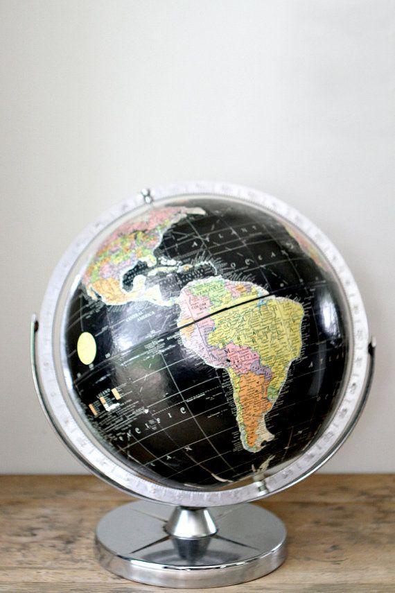 Vintage Black Globe Encyclopedia Britannica