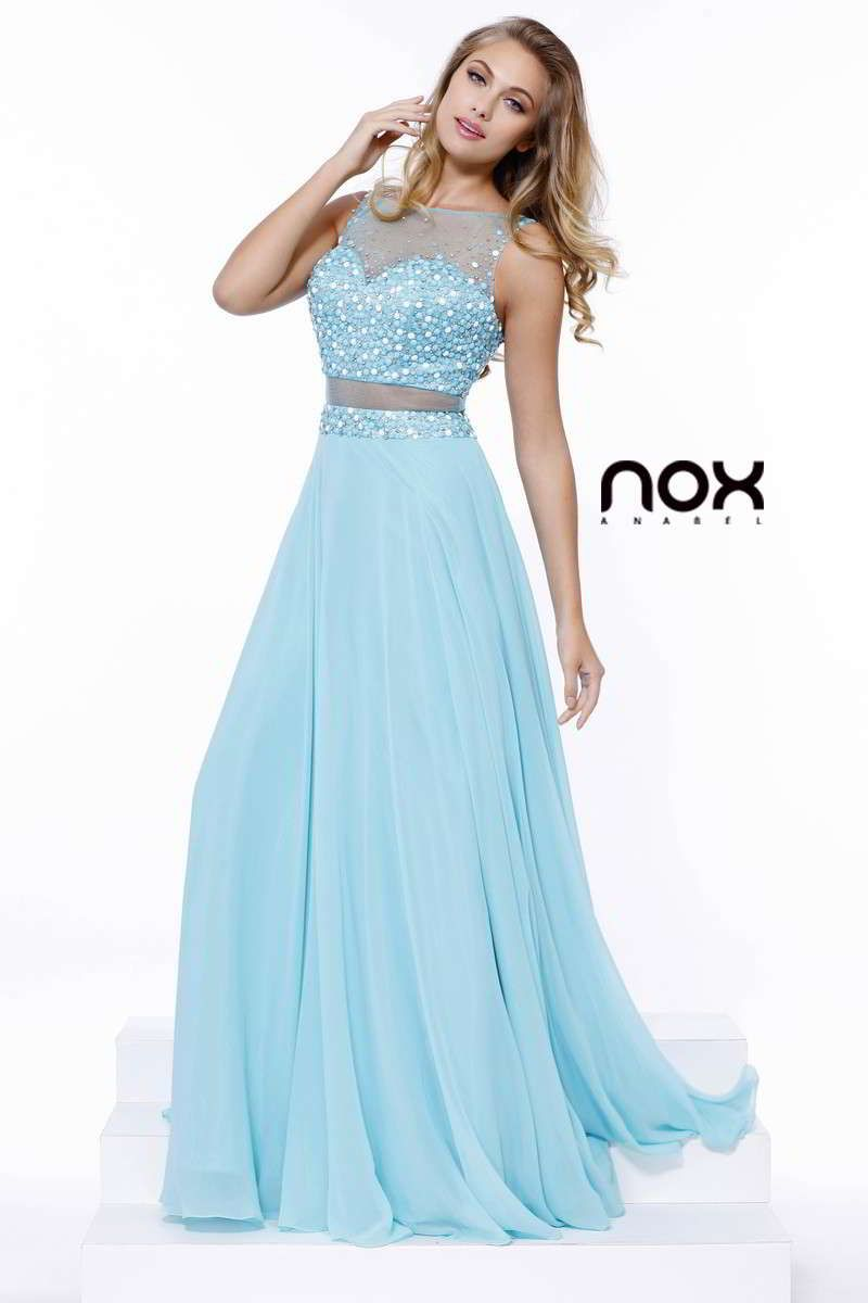 Sparkling Sheer Beaded Illusion Long Evening Prom Dress 8251 By Narianna In 2021 Aqua Prom Dress Dresses Gowns [ 1200 x 800 Pixel ]