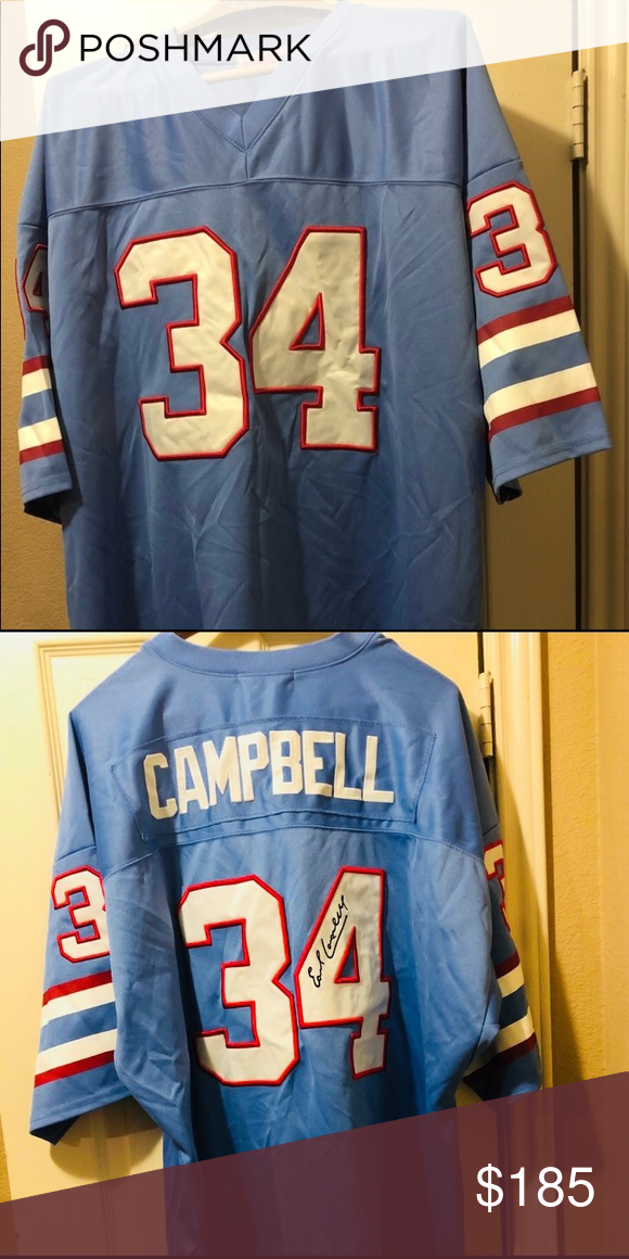 purchase cheap 2d36d d5be0 Earl Campbell Huge NFL Jersey NFL Hall of Fame's Earl ...