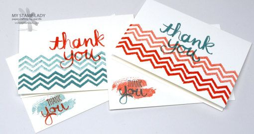 Watercolor Thank you Make quick and easy note cards with the