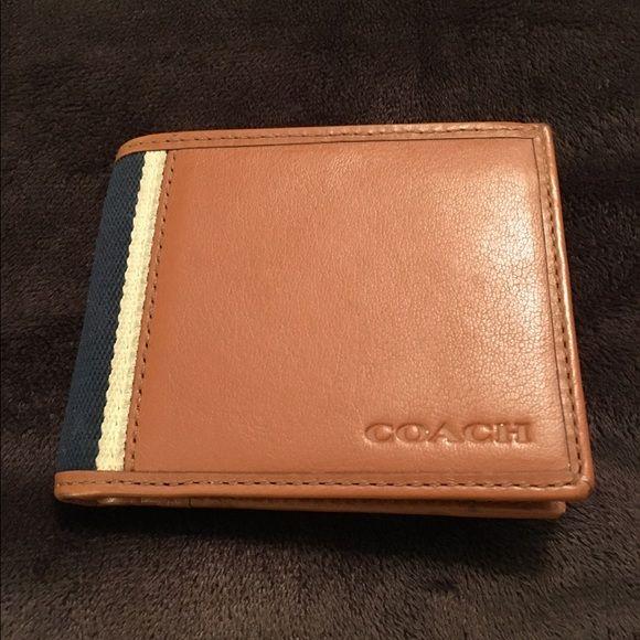 4f5b5837b2 Men's Coach Wallet Coach wallet NWT, excellent condition, ID window ...