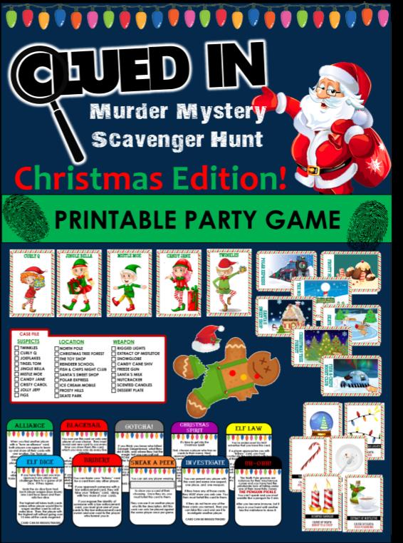 photo about Printable Mystery Games identify Xmas Video Trivia Treasure Hunt Xmas Amusing