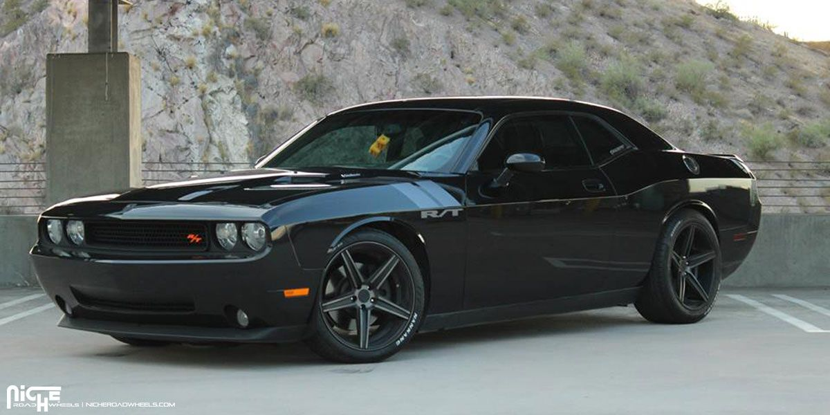 This Dodge Challenger With Niche Wheels Shows Off The Power Niche Wheels Dodge Challenger Dodge Challenger Srt Hellcat