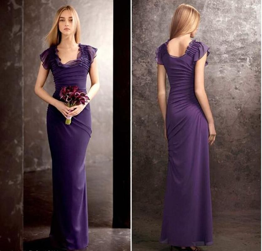 New Cheap Long Bridesmaid Dresses Square Neckline Hand Made Flowers Floor Length Long Prom Dress Ruffle Draped Evening Party Gowns 2016