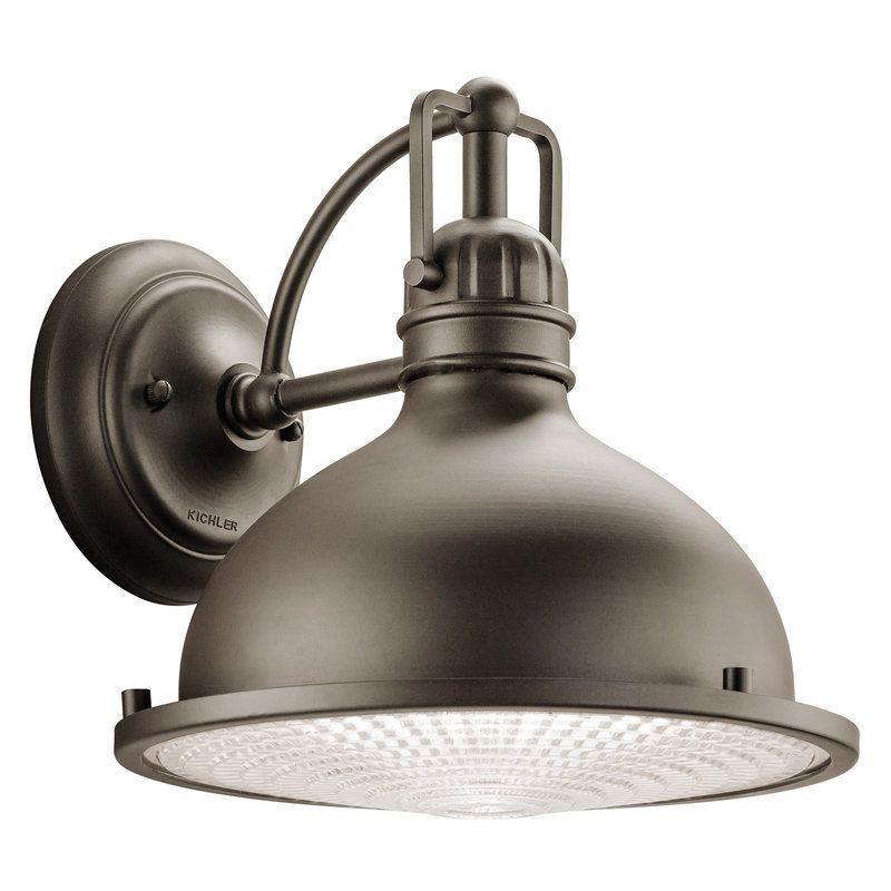 """View the Kichler 49067 Hatteras Bay Collection 1 Light 10"""" Outdoor Wall Light at LightingDirect.com."""