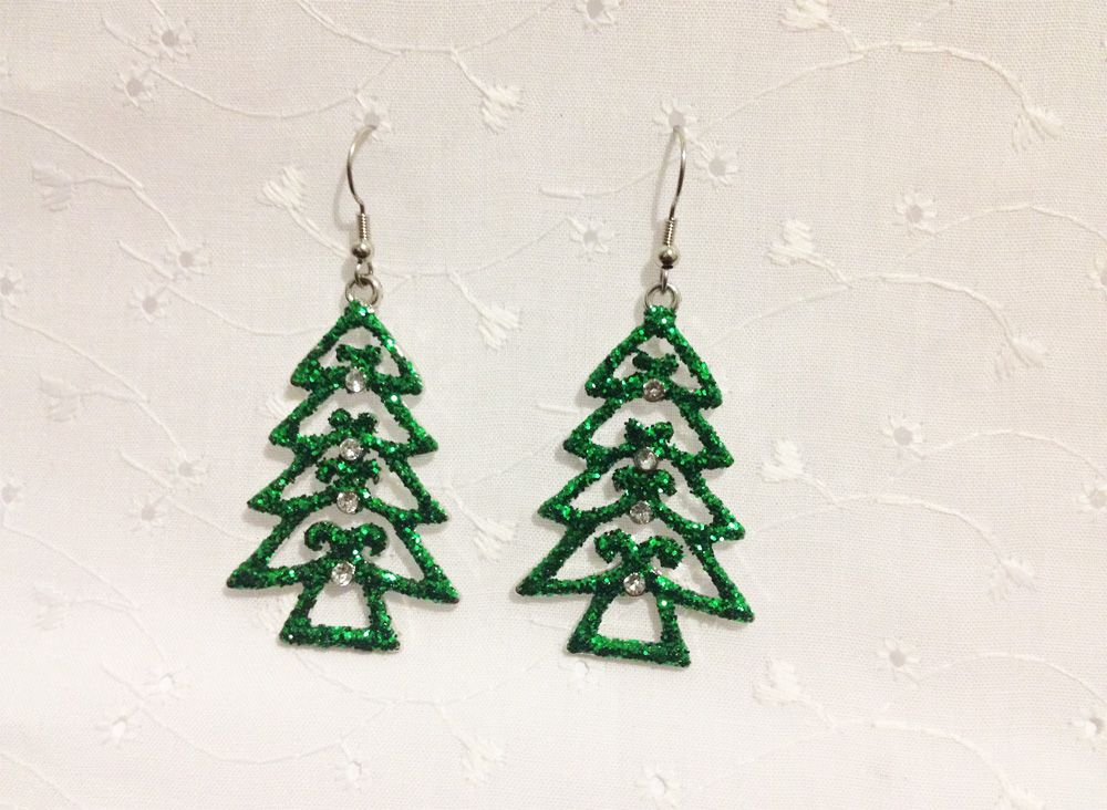 Christmas Earrings by Sparkling Reindeer | Ugly-Sweaters.com