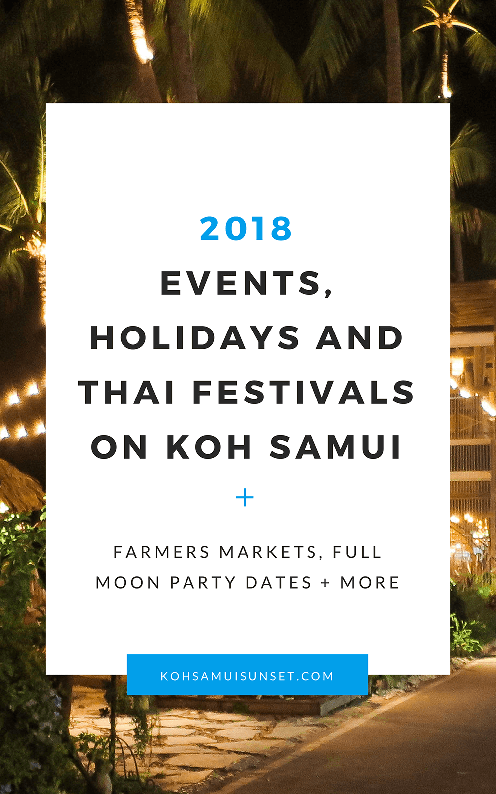 2018 koh samui events calendar island calendar updated often whats happening on koh
