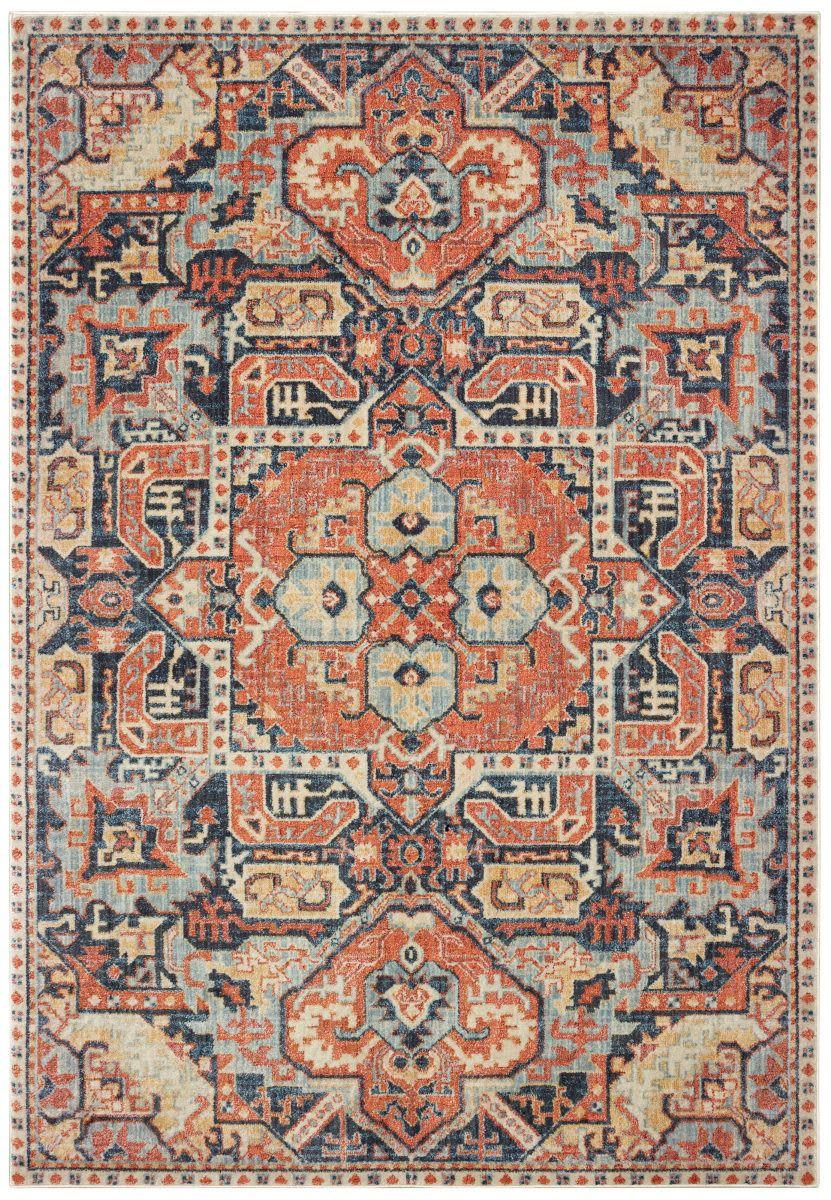 Oriental Weavers Pandora 049s7 Blue Orange Area Rug Orange Area Rug Oriental Weavers Rugs On Carpet