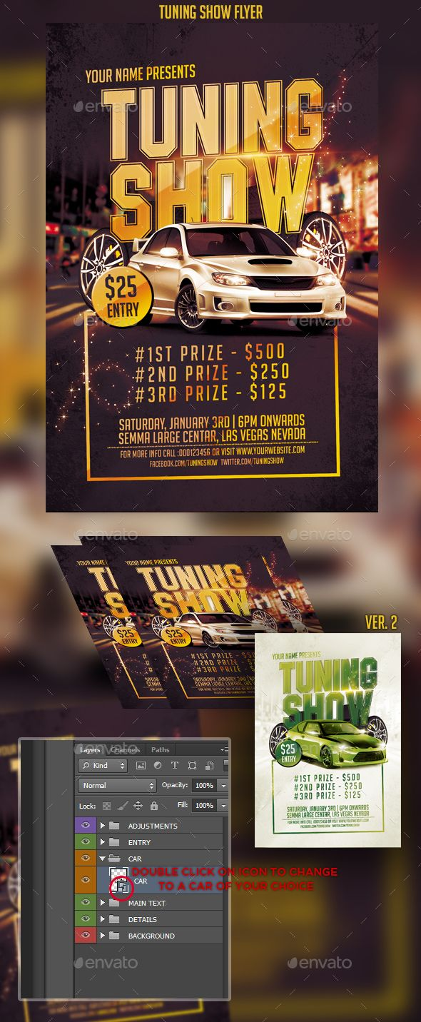 Tuning Show Flyer  Flyer Template Template And Graphics