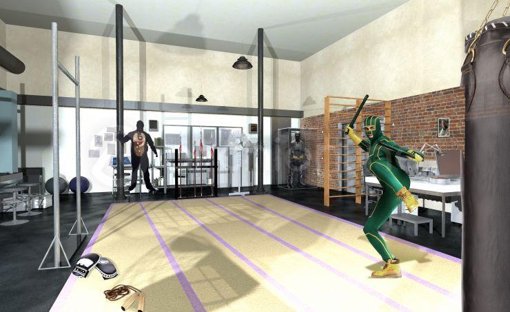 Dojo Kickass - Plan de maison de super-héros par Archionline Avec