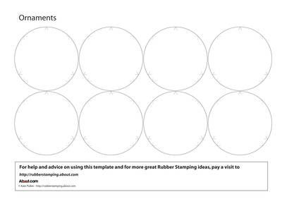 Great Template For Paper Globe Ornaments Includes Score Lines