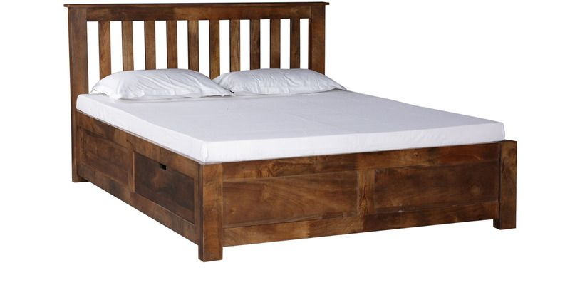 barranquilla solid wood queen size bed with storage in provincial rh pinterest com