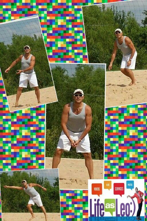 Awesome day to enjoy one of my passions is to play sand volleyball :) Un gran día para disfrutar una de mis pasiones es jugar volleyball en las canchas de arena :) #lifeasleo #outdoors #volleyball