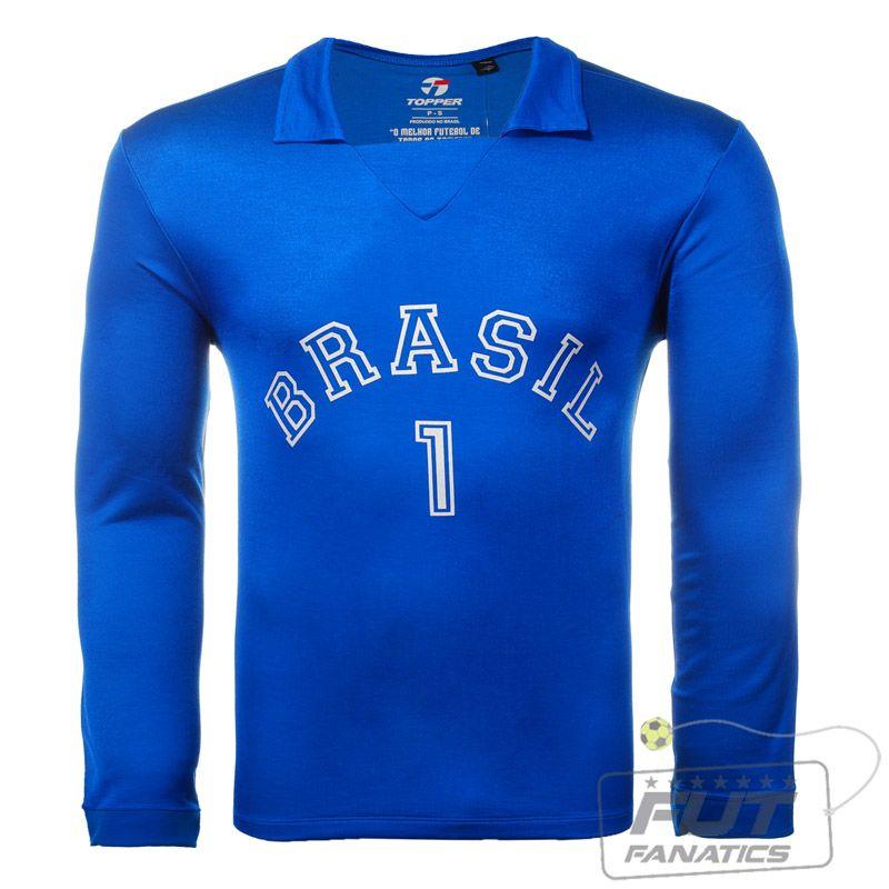66b7ae46afbf8 Camisa Topper 1 Brasil M L - FutFanatics - A Loja Oficial dos Fanáticos por  Futebol