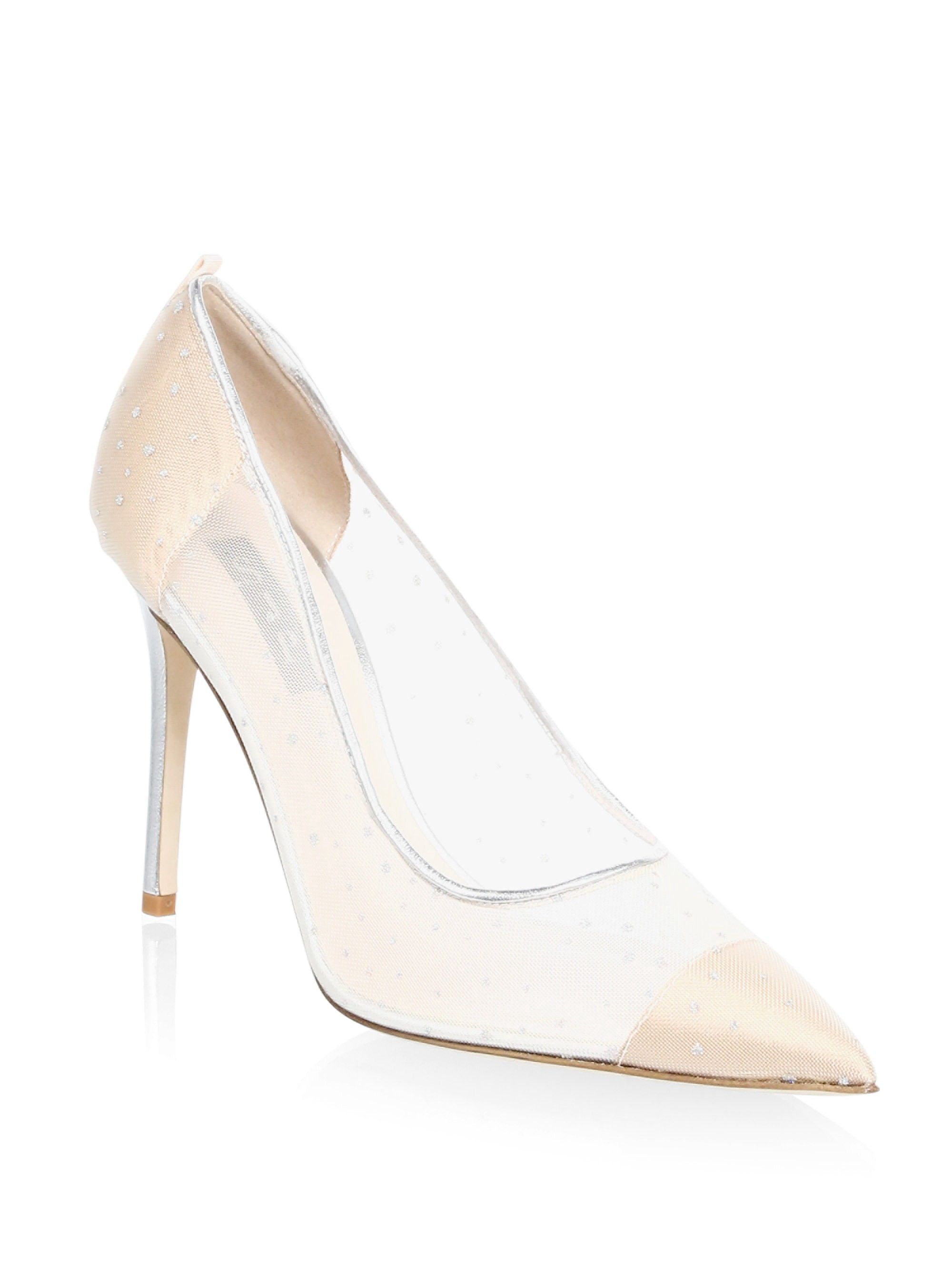 5e32faf7f81 Sjp By Sarah Jessica Parker Glass Material Point Toe Leather Pumps - Silver  36.5 (6.5)