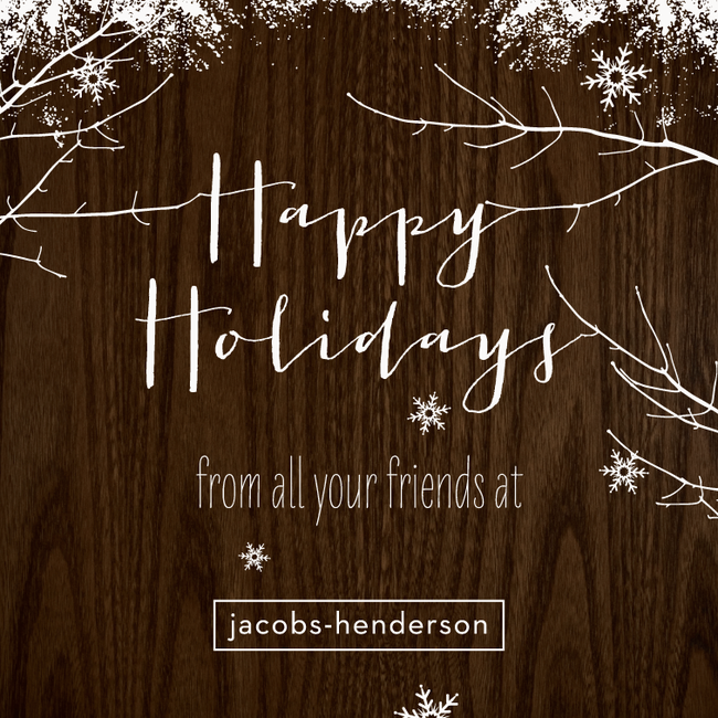 Love the simplicity business pinterest corporate holiday cards cedar snowfall business holiday cards in coffee colourmoves
