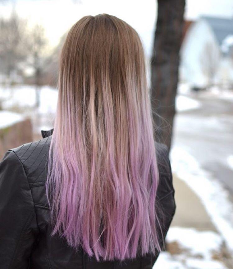 Lilac Dip Dye Dip Dye Hair Lilac Hair Dipped Hair