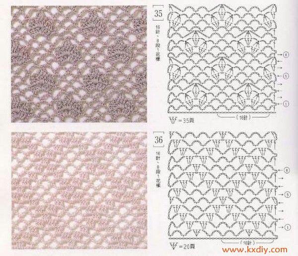 Crochet stitch charts