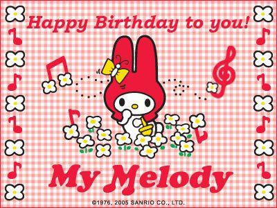 My Melody Birthday E Card My Melody Photo Mymelody Pinterest
