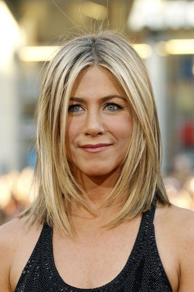 Image Result For Shoulder Length Thick Hair With Face Framing Layers Jennifer Aniston Hair Mom Hairstyles Thick Hair Styles