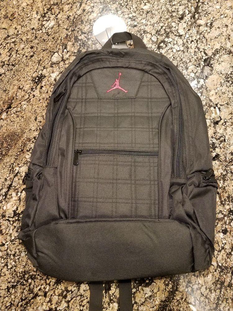 813aacf7972 Nike Air Jordan Jumpman Laptop Unisex Backpack Black Red 9A1137 023 # NikeAirJordan #Backpack