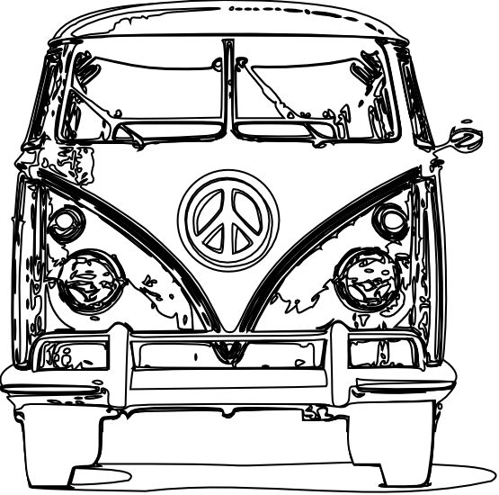 vw bus bulli black white line art scalable vector graphics svg rh pinterest com au  vw bus clipart free