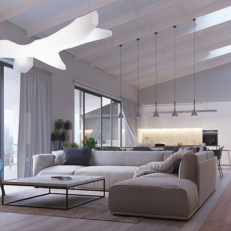 The suspension lamp influences the entire room