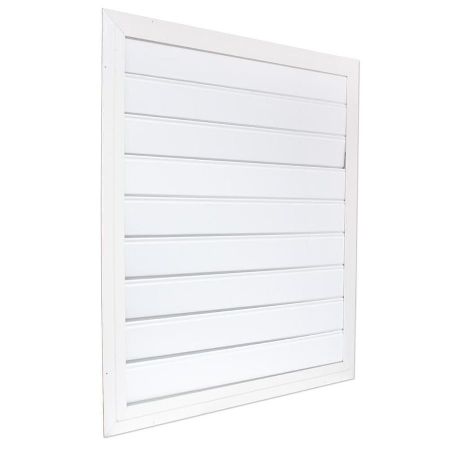 Air vent 36in x 39in white aluminum whole house fan