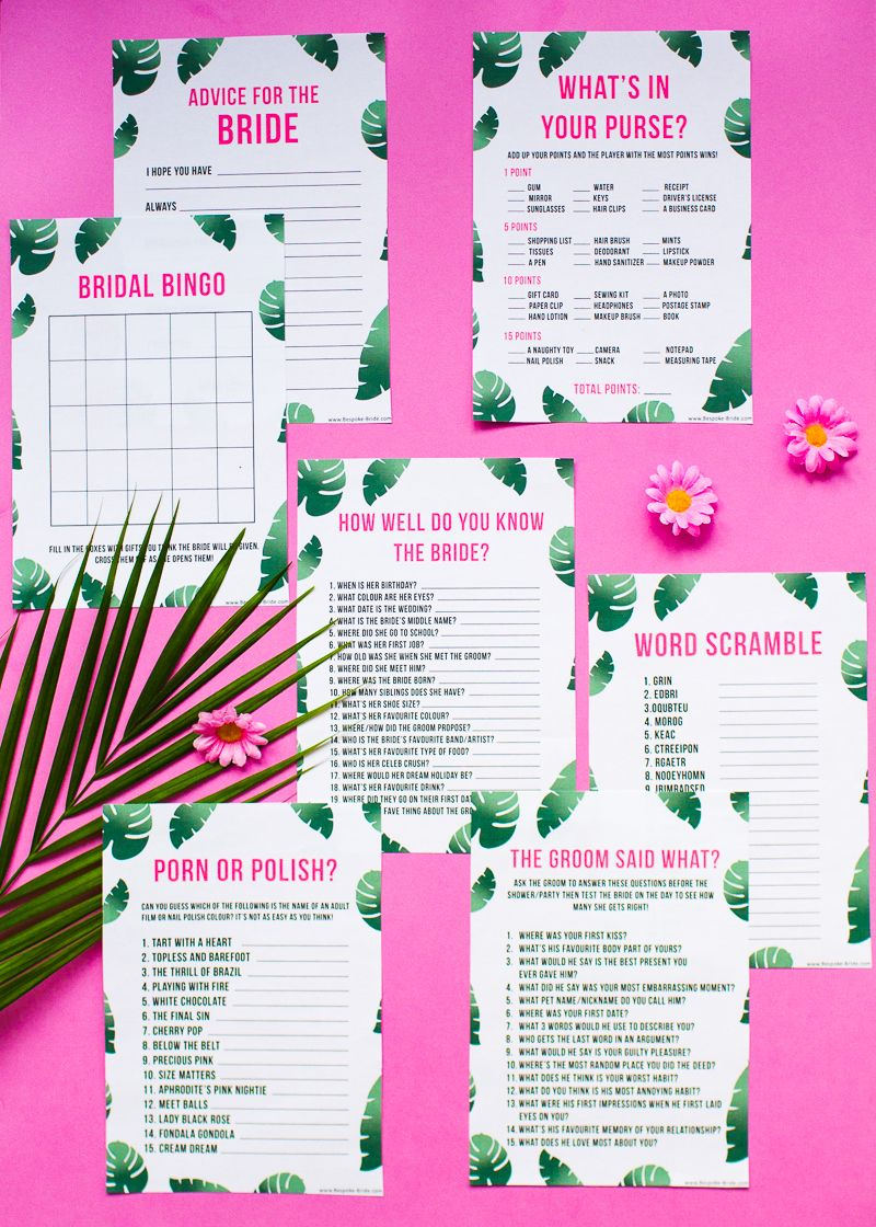 FREE PRINTABLE \'WHAT\'S IN YOUR PURSE?\' HEN PARTY & BRIDAL SHOWER ...