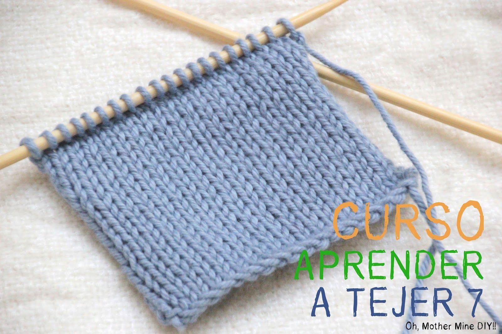 Curso aprender a tejer con dos agujas cap 7 punto jersey - Puntos para tejer ...