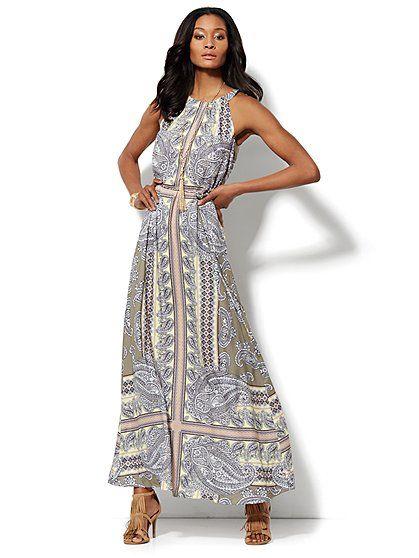 Paisley Halter Maxi Dress - New York & Company | Style ideas ...
