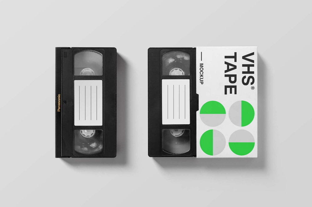 Free Vhs Tape Mockup Psd Graphic Design Freebies Design Freebie Branding Mockups Psd