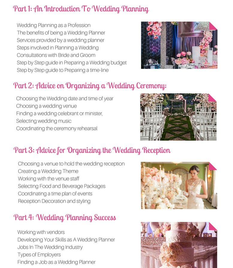 Certificate In Professional Wedding Planning Online Course How To