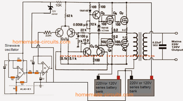3 best transformerless inverters with circuit diagrams circuit rh pinterest com