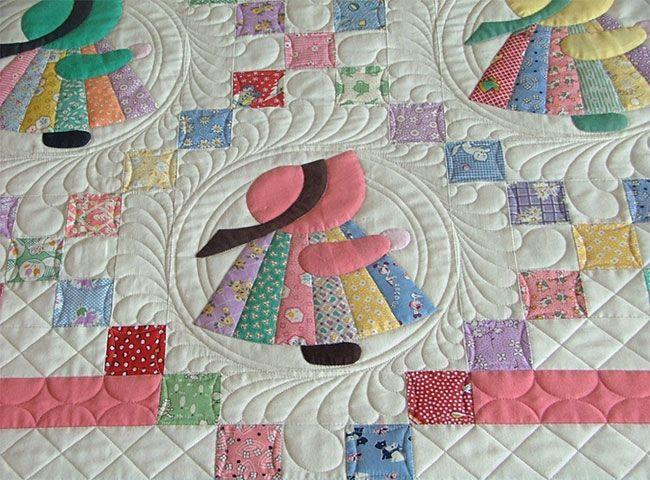 Sun Bonnet Sue Quilt Pattern Quilt Patterns Free Quilt Patterns Quilts