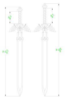 Legend of Zelda: Master Sword Template by Solvash | Swords | Zelda