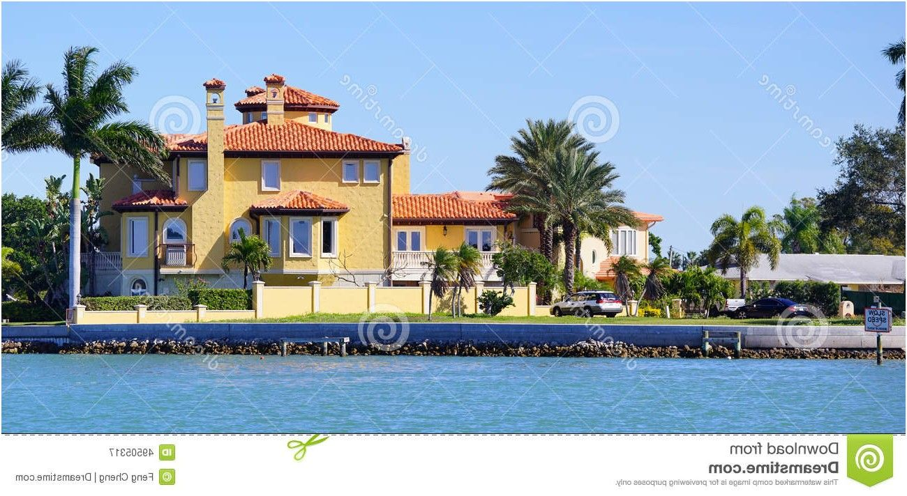 Panorama Of Luxury Beach House With Docking Stock Photo Image From Tampa Houses