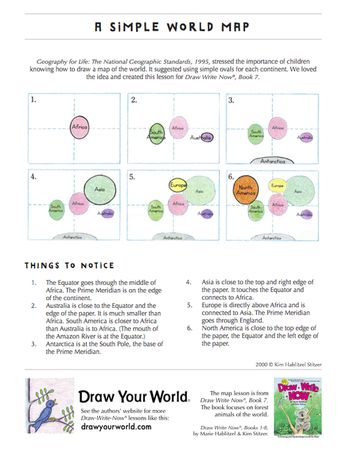 Simple world map draw write now 7 geography and homeschool simplemap1g gumiabroncs Images