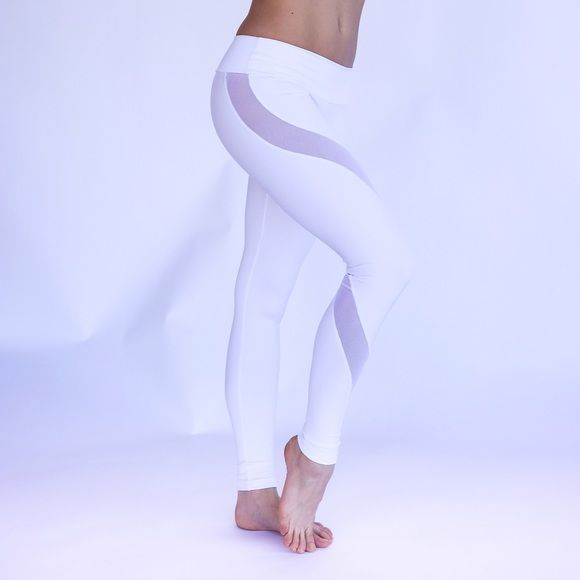 1f696e8ef958 Mia Brazilia Activewear Legging s Mia Brazilia white mesh legging. Amazing  suck you in fabric. Great for working out or hanging out!
