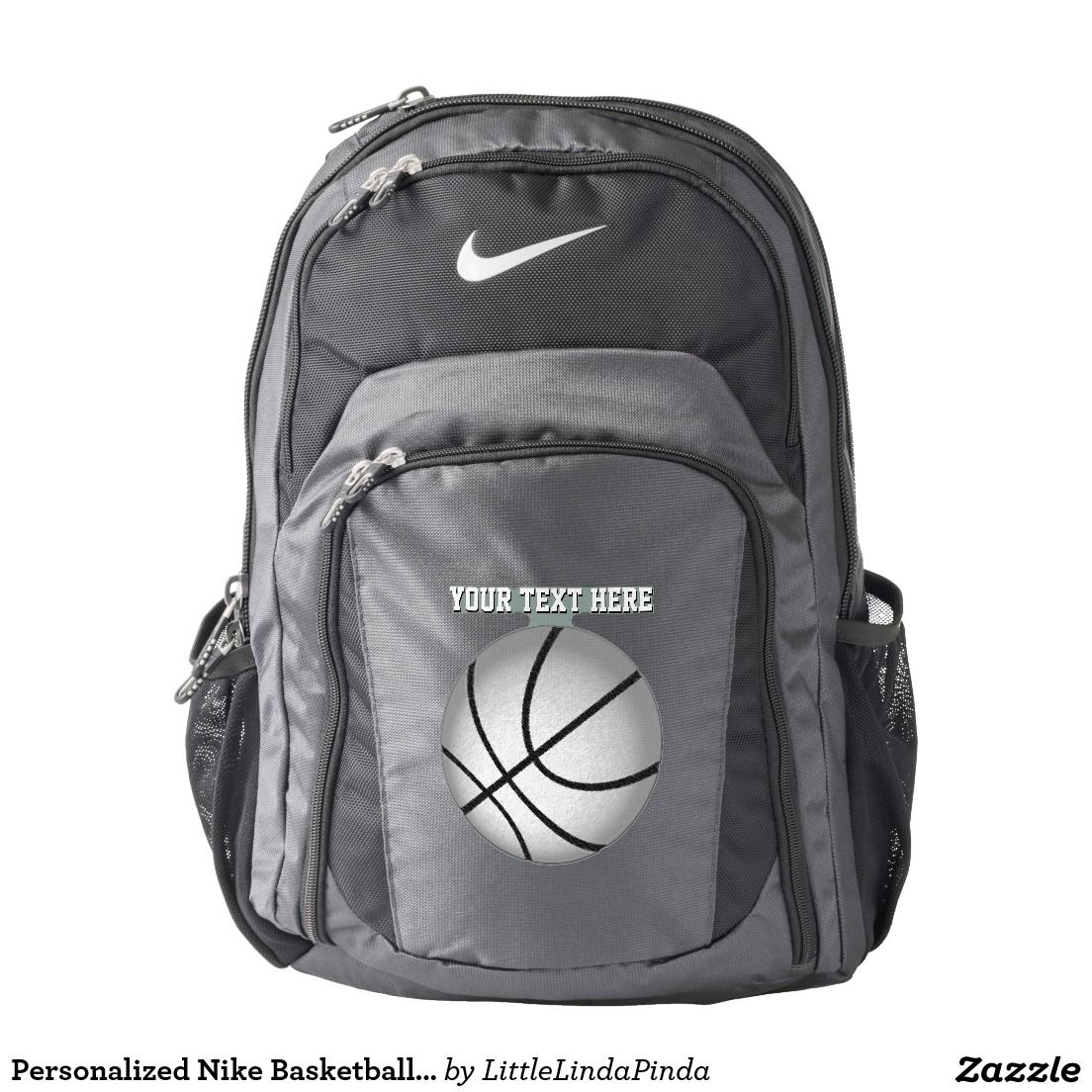 778863da2856 Personalized Nike Basketball Backpacks with YOUR TEXT typed into text box.  Great basketball gifts for